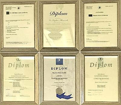 Clacton on sea dentist dental implants certificates at Admired clinic